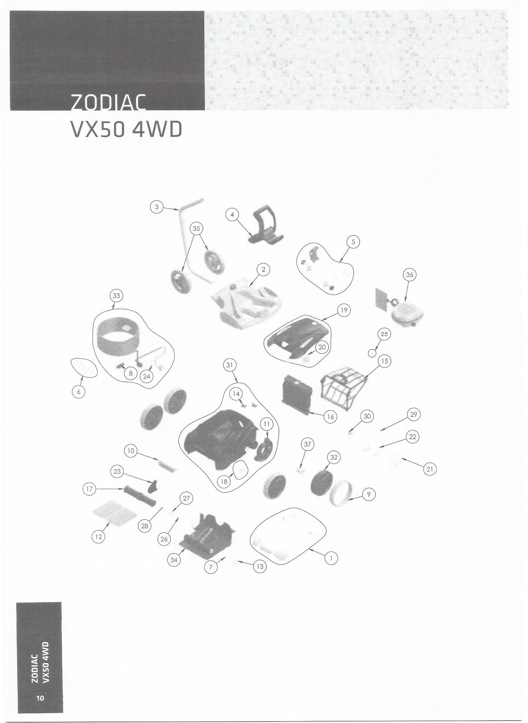 Zodiac V3 4wd Vx50 4wd Genuine Spare Parts